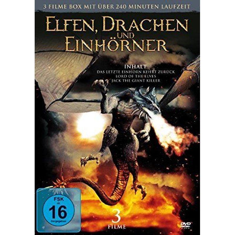 elfen drachen und einhörner box  3 fantasyfilme dvdneuovp